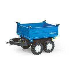 Rolly Toys - mega Trailer traktorsläp - Blå med tipp