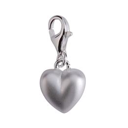 """Dacapo Silver - Berlock """"Hjärta Matt"""" Från Sagosmycken - Äkta Silver"""