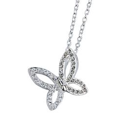 Dacapo Silver - Halsband Med Vikbar Fjäril -Äkta Silver