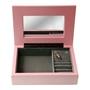 Dacapo Silver - Smyckeskrin Rosa Trä Med Speldosa -Lock Ns-Dekor - 18X13Xh5 Cm