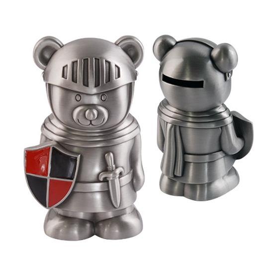 Dacapo Silver - Sparbössa Riddar-Nalle. H 12,5 Cm