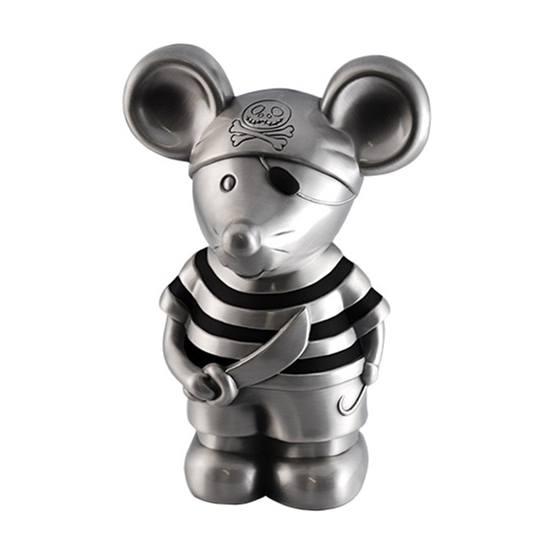 Dacapo Silver - Sparbössa Piratmus M Randig Tröja H16,5 Cm
