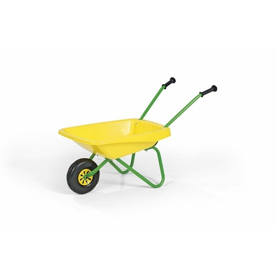 Rolly Toys - Wheelbarrow Yellow/Grön W. Plastic Bucket