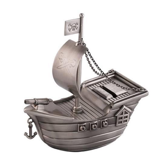 Dacapo Silver - Sparbössa Piratskepp Med Gravyrplatta