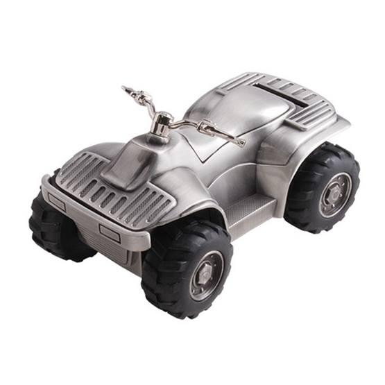 Dacapo Silver - Sparbössa Fyrhjuling. L 13 Cm