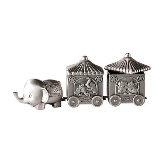 Dacapo Silver - Elefant M 2 Vagnar För Tand&Lock L 14 Cm