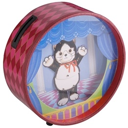 Dacapo Silver - Speldosa/Sparbössa Dansande Katt