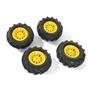 Rolly Toys - Pneumatic Wheels F. Tractors 2 X 310X95 - 2 X 325X110 - Yellow