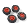 Rolly Toys - Pneumatic Wheels F. Tractors 2 X 310X95 - 2 X 325X110 Röd