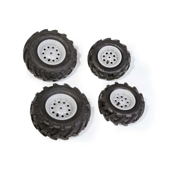 Rolly Toys - Pneumatic Wheels F. Tractors 2 X 260 - 2 X 325X110 Silver
