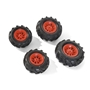 Rolly Toys - Pneumatic Wheels F. Tractors 2 X 260 - 2 X 325X110 Röd