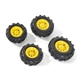 Rolly Toys - Pneumatic Wheels F. Tractors 2 X 260 - 2 X 325X110 Yellow