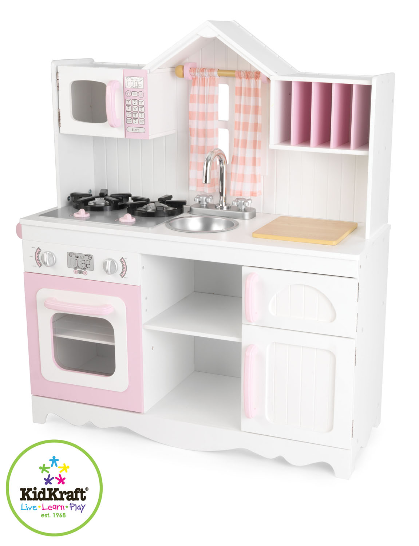 Kidkraft barnk k modern country kitchen for Kidkraft modern country kitchen 53222