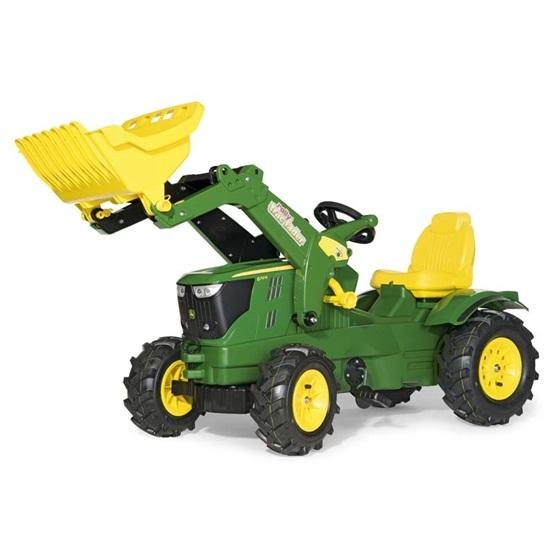 Rolly Toys - Rollyfarmtrac John Deere 6210R - Rollytrac Lader  - Pneum. Wheels