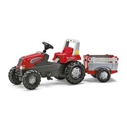 Rolly Toys - Rollyjunior Röd traktor med släp