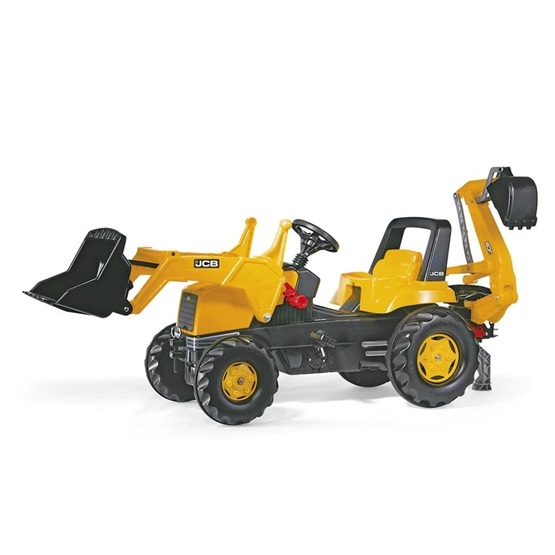 Rolly Toys - Rollyjunior Jcb W. Rollyjunior Lader - Rollybackhoe Lader