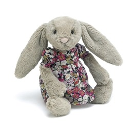 Jellycat - Floral Fashion Beige Bashful Bunny
