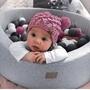 Meow Baby Bollhav med 250 bollar - Ljusgrå - 40 Cm