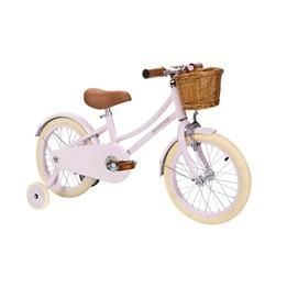 Banwood Classic Barncykel 16 tum - Stödhjul, Cykelkorg (Rosa)