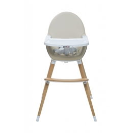 Britton - Matstol - Highchair Fika - Beige / Natural legs