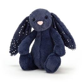 Jellycat- Mjukdjur - Bashful Stardust Bunny (Mörkblå)