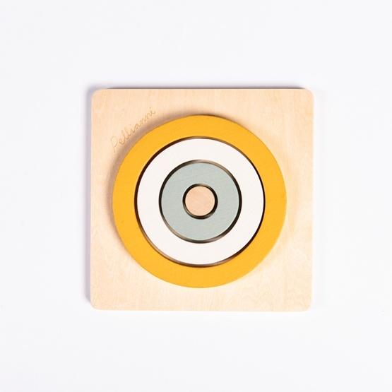 Pellianni - Pussel - Round Puzzle Mustard