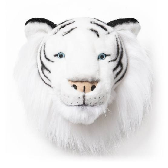 Djurhuvud - Tigerhuvud - Vit