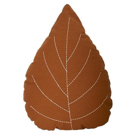 Roommate - Kudde - Löv (Höstbrun)