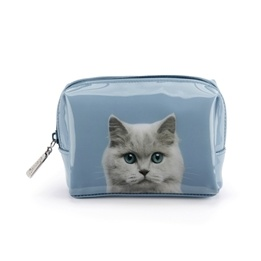 Catseye - Cat On Blue - Beauty Bag