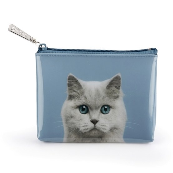 Catseye - Cat On Blue - Pouch