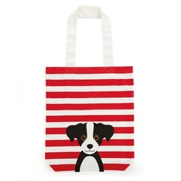 Catseye - Red Cotton Dog - Tote