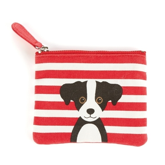 Catseye - Red Cotton Dog - Coin Purse