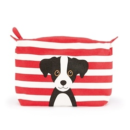 Catseye - Red Cotton Dog - Washbag