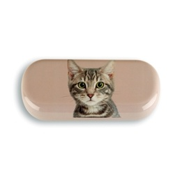 Catseye - Tabby On Taupe - Glasses Case
