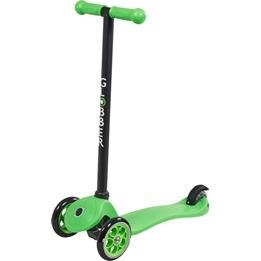 Globber - Primo Fixed Sparkcykel Till Barn Svart T-Bar - Neongrön