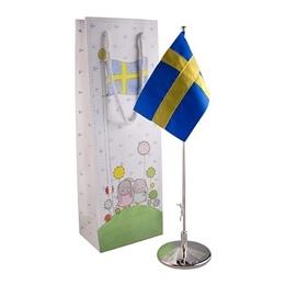 """Dacapo Silver - Dopflaggstång """"Vi Flaggar För"""""""