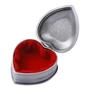 Dacapo Silver - Smyckeskrin Hjärta Med Gravyrplåt D 7Cm