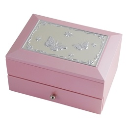 Dacapo Silver - Smyckeskrin -Rosa Trä Med Låda