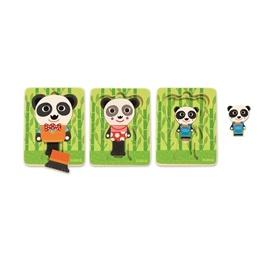 Djeco - Pussel Med Tre Lager - Pandafamiljen