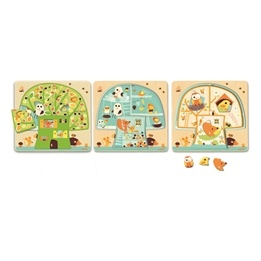 Djeco - 3 layers puzzle - Tree house
