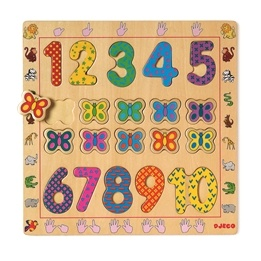 Djeco - Pedagogiskt Träpussel - 1 Till 10