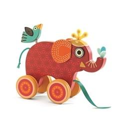 Djeco - Dragleksak - Elefanten Indy