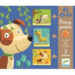Djeco - Pussel Hundar - 4 - 6 - 9 Bitar