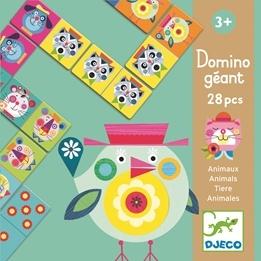 Djeco - Domino - Jättestort Med Djur