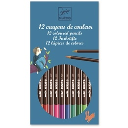 Djeco - 12 Watercolour Crayons - Classic