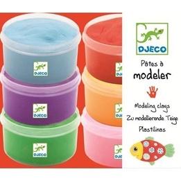 Djeco - Modellera - 6 Olika Färger
