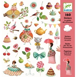 Djeco - Stickers - Princess Tea Party
