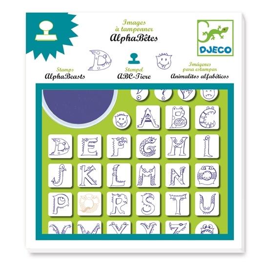 Djeco - Stämpelset - Alfabetet