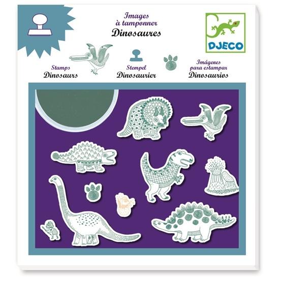Djeco - Stämpelset - Dinosaurier