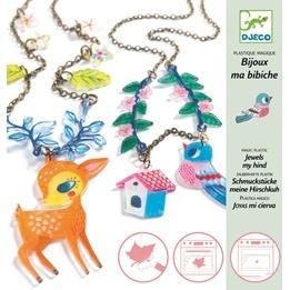 Djeco - Magic Plastic - Fawn And Bird